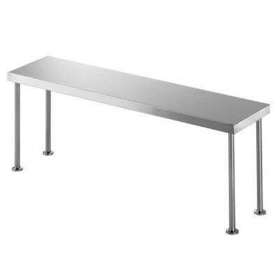Simply Stainless Steel Bench Overshelf Single 1200x300x450mm Kitchen StorageSimp