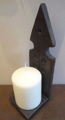 Vintage French wall mounted candle stick, wall sconce, rustic carved
