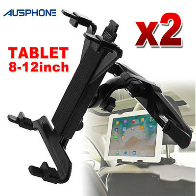 2X Universal Car Mount Seat Headrest For iPad Android Tablet Stand Holder 8-12""