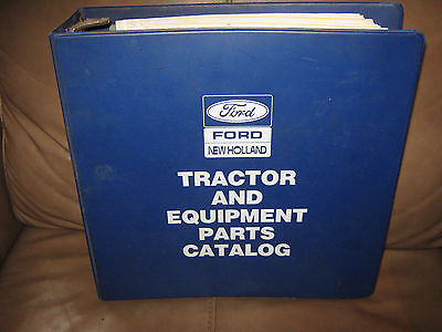 Ford New Holland Tractor and Equipment Parts Catalog Binder1986