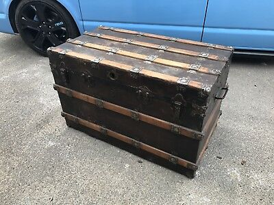 Antique Trunk Chest Coffee Table