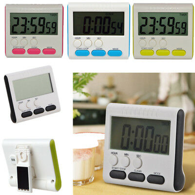 Business Home Big LCD Digital Cooking Kitchen Countdown UP Timer Alarm
