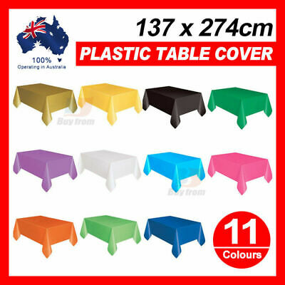 Tablecover Table Cover Plastic Tablecloth Birthday Party Wedding 11 Colors