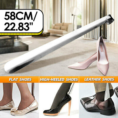 5 Sizes Stainless Steel Shoe Horn Silver Professional Metal Durable Long Handle