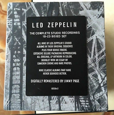 "NEW! Led Zeppelin ""The Complete Studio Recordings"" 10 CD Box Set Collection"