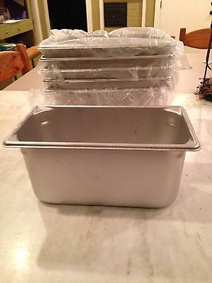 6-Vollrath Steam Pans Brand New 1/3 Size Superpan Stainless