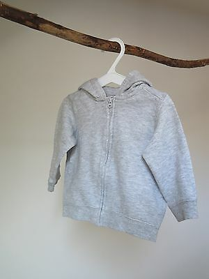 Baby Boy  - Baby Girl -  H&M  - Grey hooded jacket - (4-6 months)