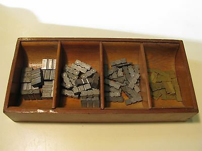 Vintage Kingsley Stamping Machine 98 Piece Spacer Set With Tray