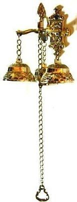 Brass Doorbell Front Vintage Classic Shop Hanging Mounting Shopkeepers Ringer