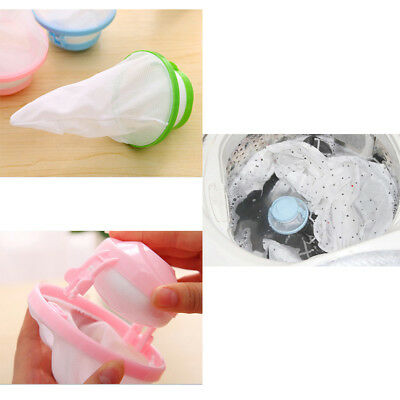 1X Lint Filter Bag Washing Machine Laundry Mesh Hair Catcher Floating Ball Pouch