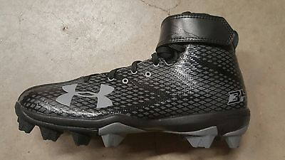 Brand New Under Armour Bryce Harper RM JR Black Youth Baseball Cleats Molded