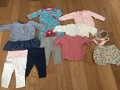 Baby Girl Clothes Bundle Sized 0-3 Month Next Boots Mini Club