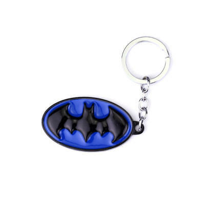 Batman Logo Keychain Black Metal Super Heroes Marvel Key Ring Chain Gift Toys