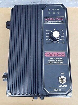 CAMCO VARI-PAK Cycling DC Motor Speed Control 92A61633030000 230V 1HP Used