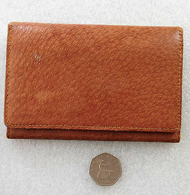 Vintage pigskin wallet with notebook holder and coin purse Sturdy leather