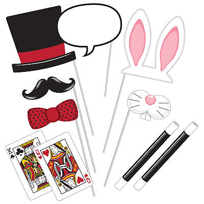 Photo Props x10 Vintage Party Alice in Wonderland Game