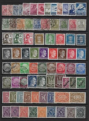 GERMAN STOCK CARD EARLY TO approx 1945 MINT & USED GOOD LOOKING LOT.