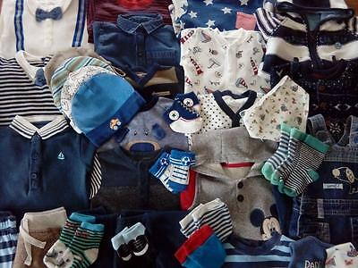 Large Bundle Baby Boys Clothes 0-3 Months VGC Next Carters Osh Kosh Disney Etc