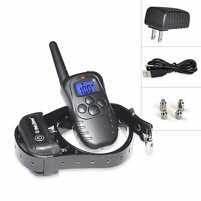 Petrainer Waterproof Rechargeable Remote LCD Electric Dog Training Shock Collar