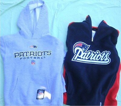 New England Patriots Youth Hoodie and Fleece Pullover Size 8