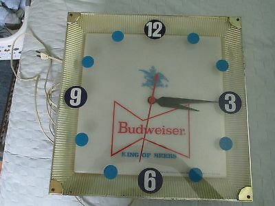 Vintage 1964 Budweiser Lighted Clock