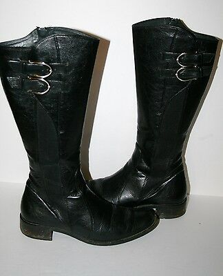 PAUL GREEN size UK 4.5 black leather knee high boot US 7
