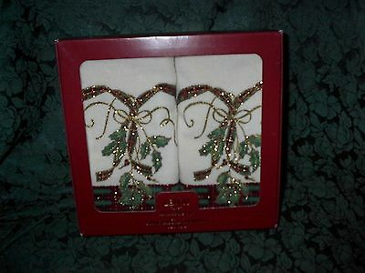Lenox Holiday Fingertip Towel Set-Holiday Nouveau-New