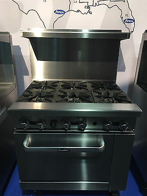 "New Heavy 36"" Range 6 Burners With 1 Full Standard Oven Stove  Lp Prop Gas Only"