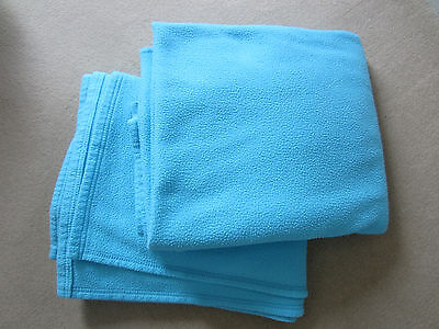 Blue Fleece Blankets for Cotbed x2