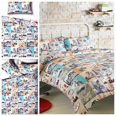 Skateboard, BMX, Adrenaline Junkie Single or Double Duvet Cover Bedding Bed Sets