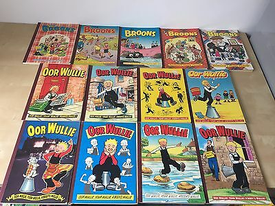 Oor Wullie, The Broons Annuals Bundle - 13 Annuals