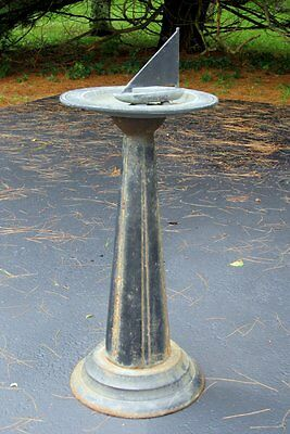 Vintage Antique Architectural Salvage Garden Iron Sailboat Bird Bath Sundial