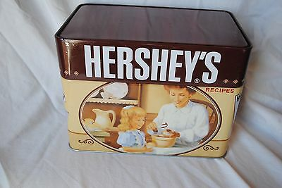 Used Hershey's Kisses Recipe Tin with 99 cards pictures Nostalgic Box keepsake