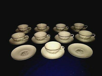 Vtg 1961 Kaysons Fine China Golden Rhapsody Cups & Saucers (9 Sets) ~ Excellent