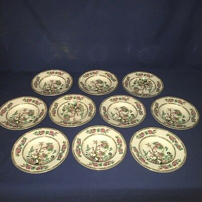 """10 Vintage Maddock Indian Tree Pattern China 8 3/4"""" Rimmed Soup Bowl ~ Excellent"""