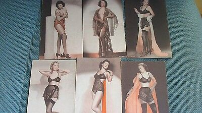 Vintage Risque Pin up Girl Penny Arcade Photo cards lot of 6