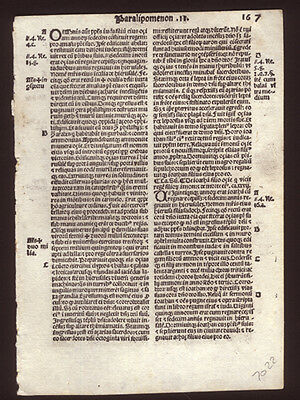 Old Testament 1519 Bible Leaf  2nd Chronicles 27-28 Contemporary Annotations