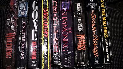 Lot of 9 horror paperbacks