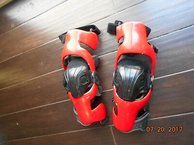 Ossur Custom Knee Braces Adult Red Set Motocross Offroad Mx Ossur Cti Braces Med