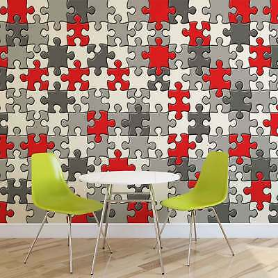 WALL MURAL PHOTO WALLPAPER XXL Puzzle Pieces Pattern Game (10128WS)