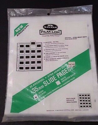 Film-Lok - Slide Pages - Holds 20 Photography 35mm Slides Per Page - 25 Pages D
