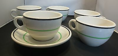 5 Nice VINTAGE Syracuse China Diner Cups and 1 Saucer: SO NOSTALGIC