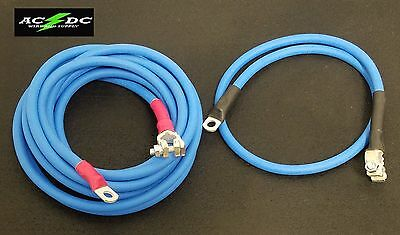 Battery Relocation Kit, # 2 Awg HD welding Cable, Top Post 16' BLUE