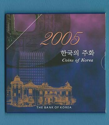 Bank of Korea 2005 Uncirculated coin set