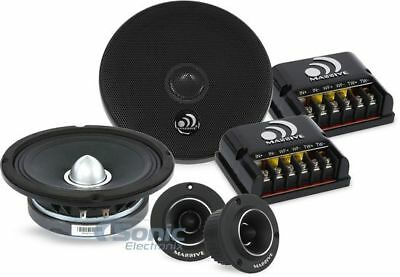 "MASSIVE AUDIO 500W 6.5"" Shallow Component Car Stereo Speaker System 