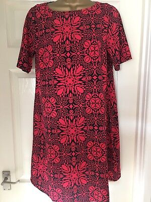 10 Asos Maternity Red Floral Pattern Summer Dress Holidays Beach Party
