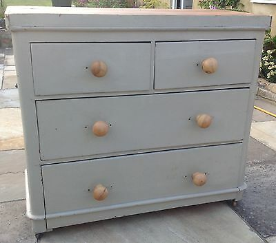 Antique  Distressed  Chest  Of  Drawers  Shabby  Chic