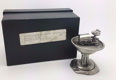 """Woodstock's Birdbath Zamboni"" Randi Johnson Ltd Ed Peanuts Pewter Sculpture Box"