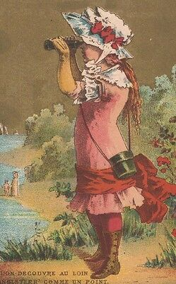 Advertising Trade Card Soapine Ou, L'on Decouvre Au Loin L'Angleteer Comme Un Po