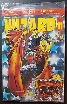 WIZARD* THE GUIDE TO COMICS -vol 1 #11 SEALED W/ SPAWN CARD & POSTER,Spawn